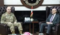 قائد الجيش يستقبل أمين عام المجلس الأعلى اللبناني السوري والأسمر في اليرزة