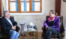 أرسلان التقى سفيرة الدنمارك وعرض معها آخر التطورات
