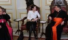 سفيرة أستراليا زارت الراعي: نثمن استقبال لبنان للنازحين ولا نزال ندعمه