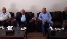"""حسين عرض القضايا المحلية والعربية مع وفد من """"البعث"""""""