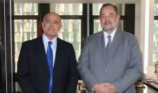 نائب رئيس غرفة بيروت عرض مع سفير البرازيل تنمية العلاقات الاقتصادية بين البلدين