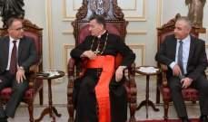 الراعي التقى مدير مخابرات الجيش يرافقه رئيس فرع مخابرات جبل لبنان