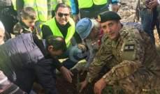 الجيش اللبناني وبلدية راشيا يقيمان حملة لغرس 1500 شجرة أرز
