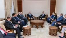 الاسد: الظروف الإقليمية والدولية تتغير ايجابيا تجاه ما يحصل بسوريا والعراق
