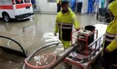 رفع الأتربة والصخور عن طرقات الفاعور وإنقاذ 30 مواطنا احتجزتهم السيول داخل منازلهم