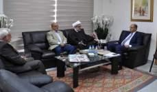 وزير الزراعة استقبل وفداً من جمعية التعليم الديني الاسلامي