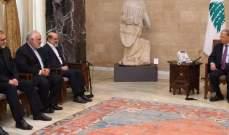 الرئيس عون اكد حرص لبنان على تطوير العلاقات مع ايران في كافة المجالات
