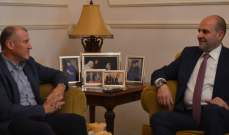 سليم عون استقبل سفير أستراليا بلبنان:على المجتمع الدولي تسريع عودة النازحين
