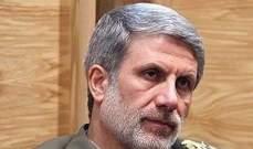 وزير الدفاع الايراني يتوجه الى موسكو للمشاركة في المؤتمر الامني