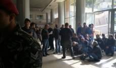 """إنتهاء إعتصام مياوي الكهرباء وإعادة فتح أبواب مؤسسة """"كهرباء لبنان"""""""