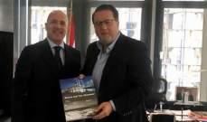 شقير تابع وسفير الارجنتين سبل تنمية العلاقات الاقتصادية