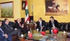 أبو سعيد بحث مع لحود الأوضاع المحلية والإقليمية