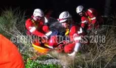 إنقاذ شخص وقع في منحدر في منطقة زوق مصبح