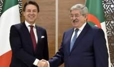 رئيس الوزراء الجزائري أجرى محادثات مع نظيره الإيطالي بالعاصمة الجزائرية