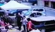 """""""اليازا"""" نشرت فيديو لحدث سير في منطقة خلوات فالوغا المتن"""