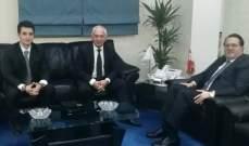 شقير عرض العلاقات الثنائية مع سفراء أرمينيا وكوريا الجنوبية وتونس
