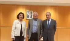وصول وزير الخارجية الاسباني على رأس وفد وزاري الى لبنان