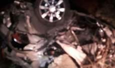 النشرة:وفاة شاب بعد تعرضه لحادث سير على أوتوستراد الجنوب-عدلون