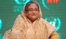 تقدم رئيسة الوزراء البنغلادشية في النتائج الأولية للانتخابات التشريعية