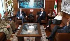 عباس ابراهيم التقى وكيل الأمين العام للأمم المتحدة لعمليات السلام
