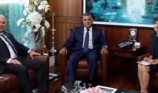 اللواء ابراهيم بحث مع  جيرار التعاون القائم مع المفوضية بشان النازحين