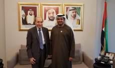 الخليل التقى الشامسي ونوه بالعلاقات اللبنانية - الإماراتية