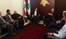 الجميل التقى رئيس أساقفة الكنيسة الكاثوليكية بتركيا ورئيس عام رهبنة المخيتاريين