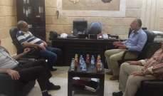 بسام كجك استقبل وفدا من الجبهة الديمقراطية في مقرها في حارة صيدا