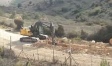 النشرة: جرافات اسرائيلية تحفر خندقا على طول الحدود مقابل العديسة