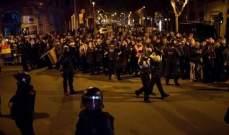إصابة 19 شخصا خلال احتجاجات ببرشلونة على زيارة ملك إسبانيا للمدينة