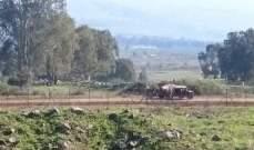 النشرة: دورية اسرائيلية مشطت الطريق بين تلال الوزاني ووادي العسل