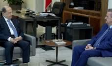 الرئيس عون عرض مع سلامة للأوضاع النقدية في لبنان ولعمل المصرف المركزي