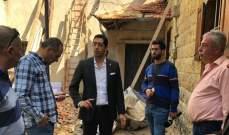 حنكش جال على قرى و بلدات قضاء المتن لتفقد اضرار العاصفة