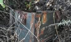 النشرة: العثور على صندوق خشبي اسرائيلي يحوي رمانات يدوية ببلدة الماري