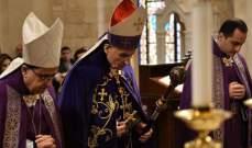 بدء قداس أحد الشعانين في بكركي برئاسة البطريرك الراعي