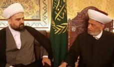 دريان التقى احمد قبلان وبحث معه عقد لقاء ديني موسع لمتابعة الوضع الاعلامي