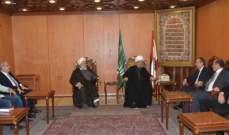 السيد التقى قبلان وبحث معه الاوضاع العامة في لبنان