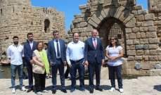 تدشين المرحلة الأولى من مشروع ترميم قلعة صيدا البحرية