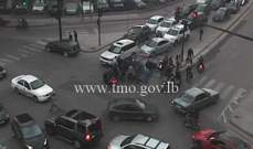جريح نتيجة تصادم بين سيارة ودراجة نارية عند تقاطع الشيفروليه-فرن الشباك