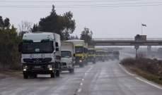 الهلال الأحمر السوري يوصل 7830 سلة غذائية إلى 3 مناطق بدرعا