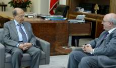 الرئيس عون بحث مع  قنديل الاوضاع الراهنة والتطورات السياسية الاخيرة