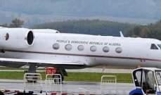 طائرة بوتفليقة تغادر مطار جنيف