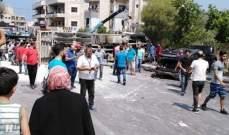 8 جرحى باصطدام شاحنة بعدد من السيارات اثر عطل بالفرامل على طريق بشامون