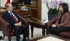 الرئيس عون استقبل تويني والبستاني في قصر بعبدا