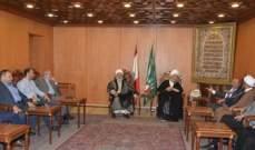 عبد الأمير قبلان التقى مصطفى الحسيني ورئيس بلدية المعيصرة