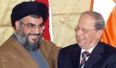 أوساط سياسية للراي: عقدة سنّة 8 آذار مواجهة بين عون وحزب الله