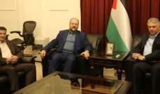 دبور عرض آخر الأوضاع في الأراضي الفلسطينية مع ممثل حماس في لبنان