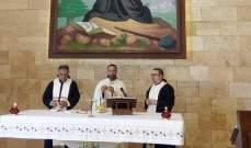 القداس الأول في كنيسة دير مار شربل درعون حريصا بعد إنقطاع قسري