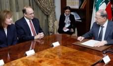 الرئيس عون:المؤسسات الأمنية ساهرة على ملاحقة الخلايا الإرهابية النائمة