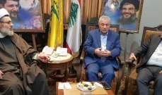"""محمد نصرالله زار مركز قيادة """"حزب الله"""" في البقاع الغربي: نؤكد على قوة التحالف"""